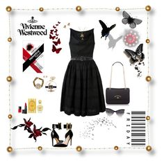 """Vivienne Westwood ( black ) ... Fashion Encounters group"" by deborah-518 ❤ liked on Polyvore featuring Vivienne Westwood, Chanel and NARS Cosmetics"
