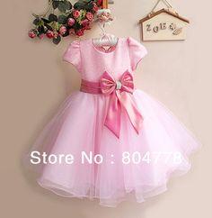 vestidos de fiesta de noche para niñas noche vestido de manga corta moño grande de flores niña de vestido para