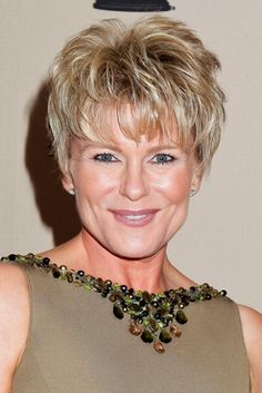 Big hair will be in this fall, but a word of caution in looking at soap star Judi Evans Luciano's pixie: her hair borders on TALL.