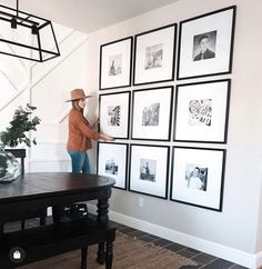 Gallery wall inspiration from dining room. 🖼 The thick white mat and beveled black frame of our Icon frames elevate the…