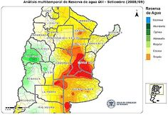 Mapa:Reserva de agua en Argentina