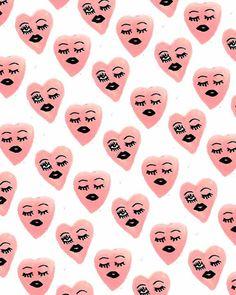bouffantsandbrokenhearts:Winking Hearts.