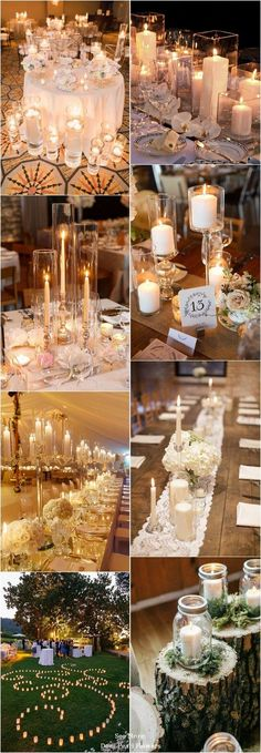 40 chic romantic wedding ideas with candles / www.deerpearlflow - Decoration For Home Chic Wedding, Wedding Table, Rustic Wedding, Our Wedding, Dream Wedding, Quirky Wedding, Wedding Reception, Wedding Stuff, Sophisticated Wedding