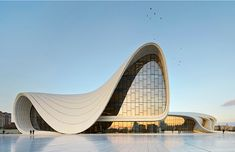 They wanted to have something unique, something which is looking at the future, somehow showing their soft, romantic side but at the same time their optimistic side, Saffet Kaya Bekiroglu of Zaha Hadid architects says of the Heydar Aliyev Center. Condominium Architecture, Revit Architecture, Architecture Wallpaper, Architecture Images, Organic Architecture, Futuristic Architecture, Amazing Architecture, Architecture Portfolio, Architecture Sketchbook