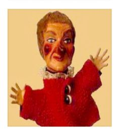Lady Elaine from Mr. Rogers Neighborhood.....Striking fear into the hearts of young children everywhere. She still appears in my nightmares. CREEPY