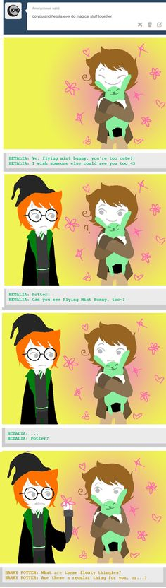 (this one is from: potter-fandombound.tumblr.com  excellent new blog) hp and hetalia fandoms