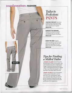 Tailoring Alterations: What to do to slacks