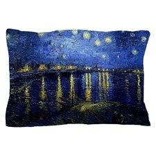 Starry Night Over the Rhone, Famous Pa Pillow Case for