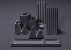 Origamiden İlhamla Tasarlanan Beton Kırtasiye Serisi