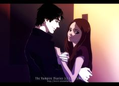 Delena Ok, so this scene is from the book 5th. It was so hilarious and somehow cute, I saw this image in my mind immediately, just had to make it! x'3 Actually, it was one of my favorites funny par...