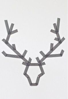 Christmas Art: Make Reindeer with tape on a canvas. Paint over it. Peel off tape. - Or just make it with peel off tape on a window??