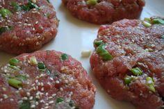 Fresh Ahi tuna burgers