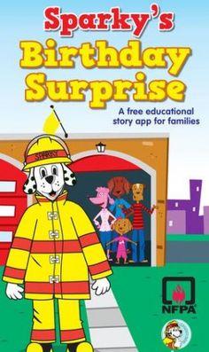 Sparky's Birthday Surprise #FireSafety App #sponsored