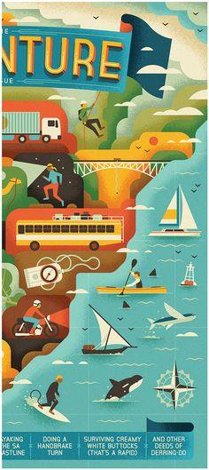 Highlife SA - The Adventure Issue by MUTI, via Behance