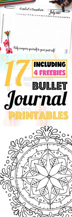 17 Pages Strong Bullet Journal Printable Kit • July 2017. Including Habit Tracker, Monthly Log and many more beautiful pages. // by Wundertastisch Design