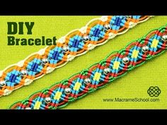 Colorful Macrame Wave Bracelet Tutorial - YouTube