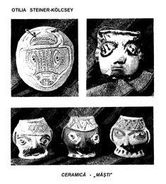 "CERAMICA- ""MASTI"" Desen de OTILIA STEINER-KOLCSEY, publicat in almanahul PERPETUUM COMIC '97 editat de URZICA, revista de satira si umor din Romania"