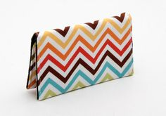 Business card holder small wallet business card wallet gift card case - rainbow chevron. $14.00, via Etsy.