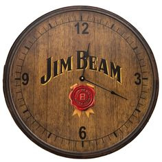 Jim Beam Wooden Clock