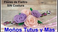 DIADEMA FLORES EN FIELTRO Paso A Paso NO-SEW FELT FLOWER HEADBAND Tutori...