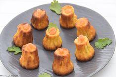 Cannelés saumon et fromage frais ail et fines herbes