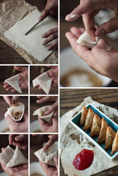 How To Make Samosas (Click for full recipe by JourneyKitchen.com via FoodWanderings.blogspot.com) #indian #food