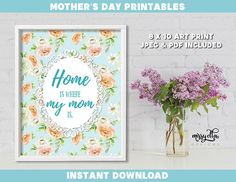 Mother's Day Bundle - Mother's Day Printable - Mother's Day Cards - Mom's Day - Happy Mother's Day - Gifts for Mom, Gifts for Mum Mothers Day Cards, Happy Mothers Day, Mother's Day Printables, Mother's Day Greeting Cards, Pastel Flowers, Mom Day, Gifts For Mum, Art Prints, Handmade Gifts
