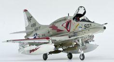 1:48 Monogram A-4F Skyhawk Monogram A-4F, in the markings of VA-144 'Roadrunners' USS Bon Homme Richard, circa 1969.