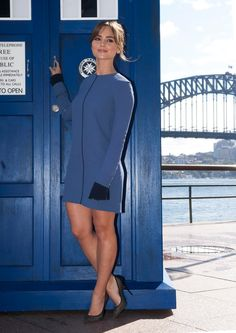 Doctor Who Tour Sydney - Jenna Coleman Jenna Coleman, Beautiful Female Celebrities, Beautiful Actresses, Beautiful Women, Doctor Who Clara, Doctor Who Companions, Clara Oswald, Famous Women, Sexy Legs