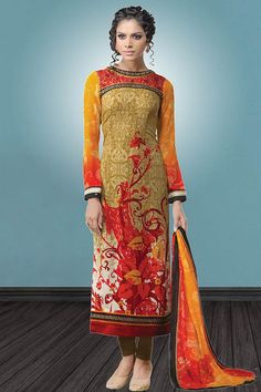 Orange & Red Crepe Salwar Kameez Price - £49.00 OccasionFestival Wear, Casual Wear, Ceremonial ColorRed, Orange FabricCrepe, Chiffon DiscountNo WorkPrint, Embroidered, silk thread, Stone Time To Ship:10 to 12 working days