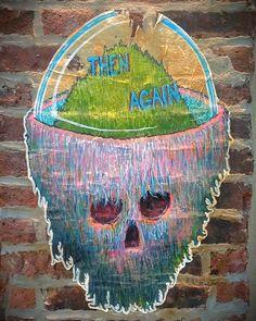 Then again... #skull #wheatpaste #pasteup #graffiti #Williamsburg #streetart #Brooklyn #urbanart #NYC #photography #weekend #NewYorkCity