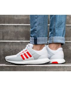 a1f2ccd318b1c Adidas Equipment Support Ultra White Grey Red Fashion Trainers