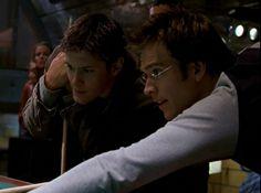 "Alec and Logan in ""Dark Angel"""