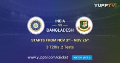Bangladesh Tour of India comprising 3 and 2 Tests are scheduled to begin from November The Bilateral series will be played on various cities across India namely Delhi, Rajkot, Nagpur, Indore, and Kolkata. Ipl Live Score, Mayank Agarwal, Smart Televisions, Ravindra Jadeja, Shikhar Dhawan, Upcoming Matches, Game Update, Tv Channels, World Records