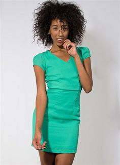 Bright Green Dress with Lace Back #GreenDress #Green #Buttons #Lace #LaceBack #MiniDress #Holidays #NewYearsEve #Party #PartyDress #LosAngeles #Downtown #Event #Wholesale #Style #Fashion #StylishWholesale
