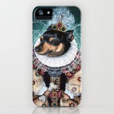Please I want one of these!! Sophia the Min Pin as Queen Elizabeth iPhone & iPod Case