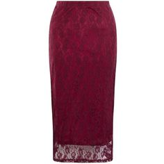 Amalie & Amber Burgundy Lace Midi Skirt ($30) ❤ liked on Polyvore featuring skirts, burgundy, midi skirt, burgundy midi skirt, lace skirt, elastic waist skirt and party skirts