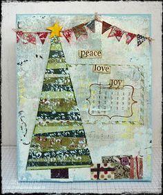 Scrapbook canvas on Pinterest | Christmas Canvas, Mixed Media ...