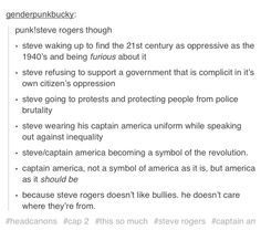 And under Steve's influence, America slowly, but surely, becomes what she was always meant to be - a beacon of hope, freedom, and equality for ALL