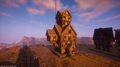 The latest wizard tower in my medieval / fantasy build Seven Hills Minecraft building Minecraft games Minecraft
