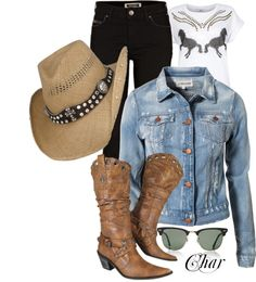 """country style"" by thefarm ❤ liked on Polyvore"