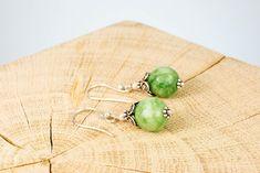 """Ohrschmuck """"Crowning Green"""" Fair Trade, Stud Earrings, Green, Jewelry, Ear Jewelry, Rhinestones, Silver, Jewlery, Jewerly"""