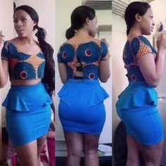 African short dress: blue