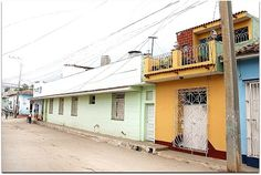 Vista general de la vivienda en las calles de Trinidad. Cuba, Trinidad, Street, Museums, Cities