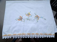 Vintage+Embroidered+Pillow+Case+With+Butterfly+and+Floral+Embroidery
