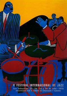 San Sebastian's Jazz Festival poster 1970