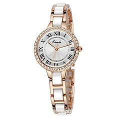 Tidoo Watches Noble Lady Series Womens Luxury Dress Watch WristWatch Analog Display White Dial Japaneses Quartz Movement Staintless Steel Gold Plated Crystals Inlay Case White Bracelet Band Luxury Water ResistantShinning And Expensive LookingBest Gift for Female GirlFriend Lover Birthday Anniversary Valentines Day And Christmas 506S * Continue reading at the image link.