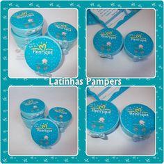 """-Latinhas plásticas """"mint to be"""" no tamanho 5cm x 2cm.São mais higiênicas, seguras e não enferrujam."""