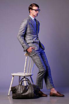 De La Garza/ cashmere/ merino/ bold check suit