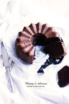 Buttermilk chocolate bundt cake
